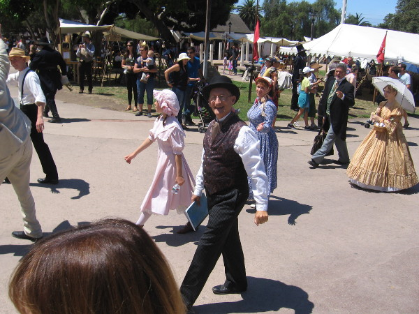 Many characters in 19th century period costume could be spotted at the annual event.