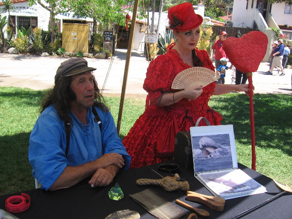 This sea captain might have been an acquaintance of Herman Melville. He has been joined by Lewis Carroll's Red Queen.
