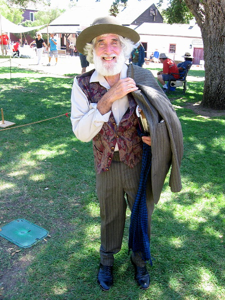 I met Walt Whitman, who told me this is his first time at TwainFest.