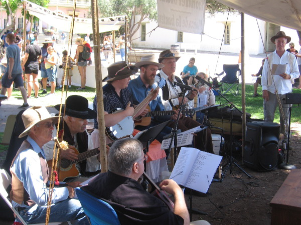 Lively music from 19th century San Diego adds life to the cultural event.
