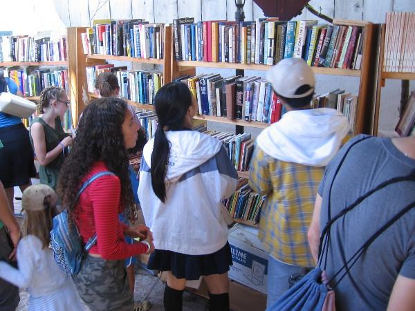 Shelves full of books!