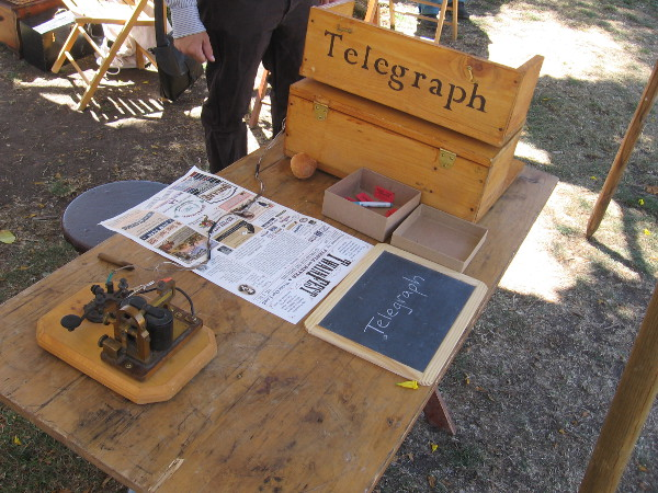A working telegraph was on display.
