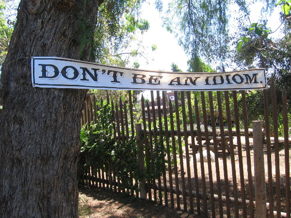 Don't be an idiom. (You probably don't want to be an oxymoron either.)